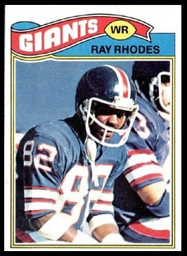 Ray Rhodes 1977 Topps football card