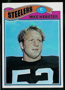 Mike Webster 1977 Topps football card