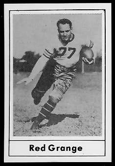 Red Grange 1977 Touchdown Club football card