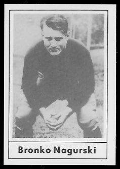 Bronko Nagurski 1977 Touchdown Club football card