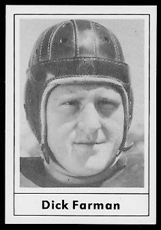 Dick Farman 1977 Touchdown Club football card