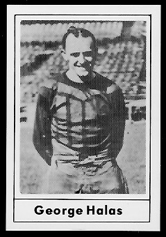 George Halas 1977 Touchdown Club football card