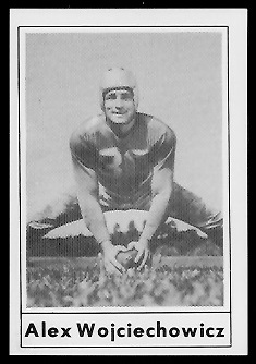 Alex Wojciechowicz 1977 Touchdown Club football card