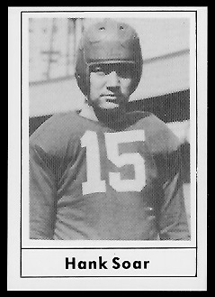 Hank Soar 1977 Touchdown Club football card
