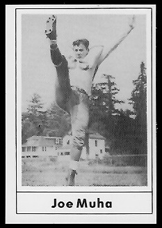Joe Muha 1977 Touchdown Club football card