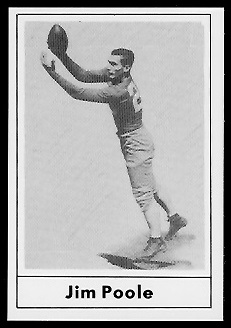 Jim Poole 1977 Touchdown Club football card