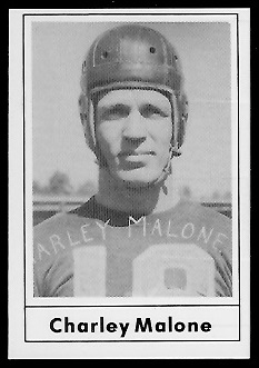 Charley Malone 1977 Touchdown Club football card