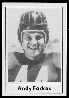 Andy Farkas 1977 Touchdown Club football card