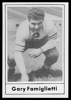 Gary Famiglietti 1977 Touchdown Club football card