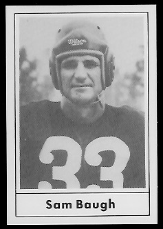 Sammy Baugh 1977 Touchdown Club football card