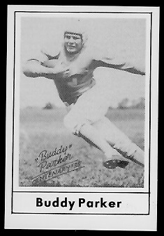 Buddy Parker 1977 Touchdown Club football card