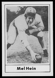 Mel Hein 1977 Touchdown Club football card