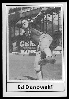 Ed Danowski 1977 Touchdown Club football card
