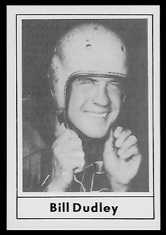 Bill Dudley 1977 Touchdown Club football card