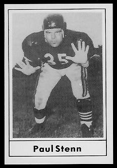 Paul Stenn 1977 Touchdown Club football card