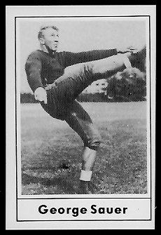 George Sauer Sr. 1977 Touchdown Club football card