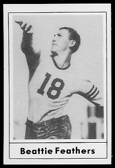Beattie Feathers 1977 Touchdown Club football card