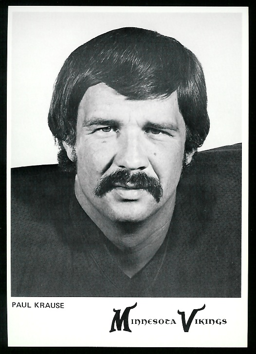 Paul Krause 1978 Country Kitchen Vikings football card