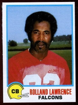 Rolland Lawrence 1978 Holsum Bread football card