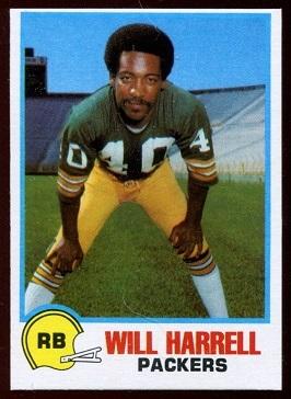 Will Harrell 1978 Holsum Bread football card