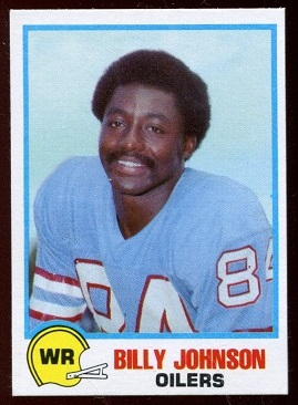 Billy Johnson 1978 Holsum Bread football card