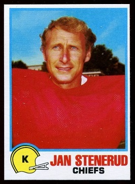 Jan Stenerud 1978 Holsum Bread football card