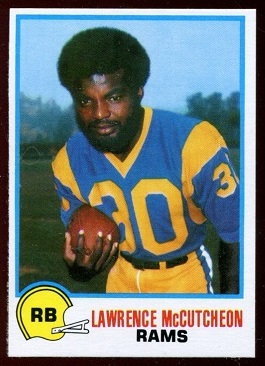 Lawrence McCutcheon 1978 Holsum Bread football card