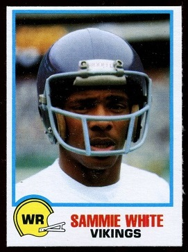 Sammy White 1978 Holsum Bread football card