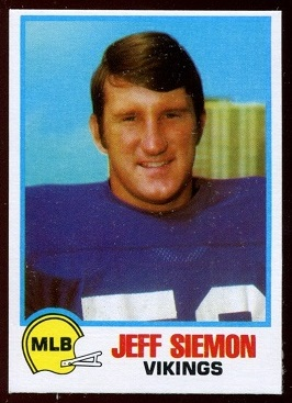 Jeff Siemon 1978 Holsum Bread football card
