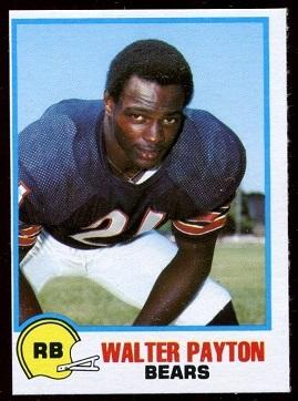 Walter Payton 1978 Holsum Bread football card