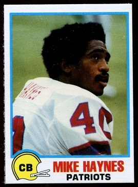 Mike Haynes 1978 Holsum Bread football card