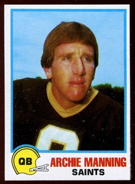 Archie Manning 1978 Holsum Bread football card