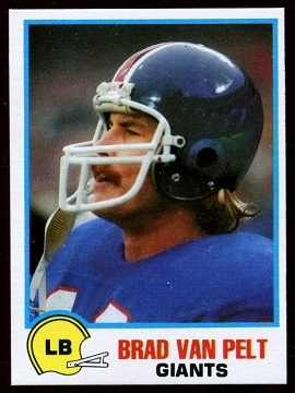Brad Van Pelt 1978 Holsum Bread football card