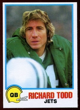 Richard Todd 1978 Holsum Bread football card