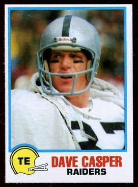 Dave Casper 1978 Holsum Bread football card
