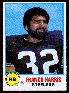 Franco Harris 1978 Holsum Bread football card