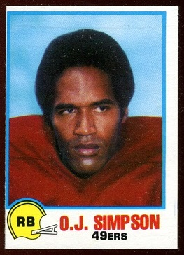 O.J. Simpson 1978 Holsum Bread football card