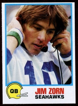 Jim Zorn 1978 Holsum Bread football card
