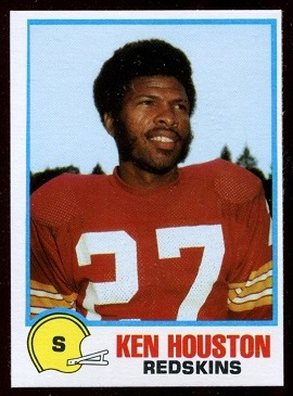 Ken Houston 1978 Holsum Bread football card