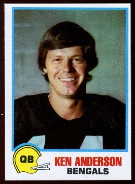 Ken Anderson 1978 Holsum Bread football card