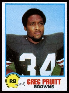 Greg Pruitt 1978 Holsum Bread football card