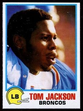 Tom Jackson 1978 Holsum Bread football card