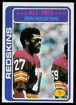 Ken Houston 1978 Topps football card