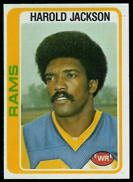 Harold Jackson 1978 Topps football card