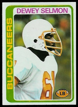 Dewey Selmon 1978 Topps football card