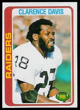 Clarence Davis 1978 Topps football card
