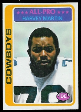 Harvey Martin 1978 Topps football card
