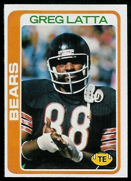 Greg Latta 1978 Topps football card