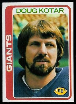 Doug Kotar 1978 Topps football card