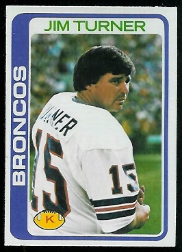 Jim Turner 1978 Topps football card